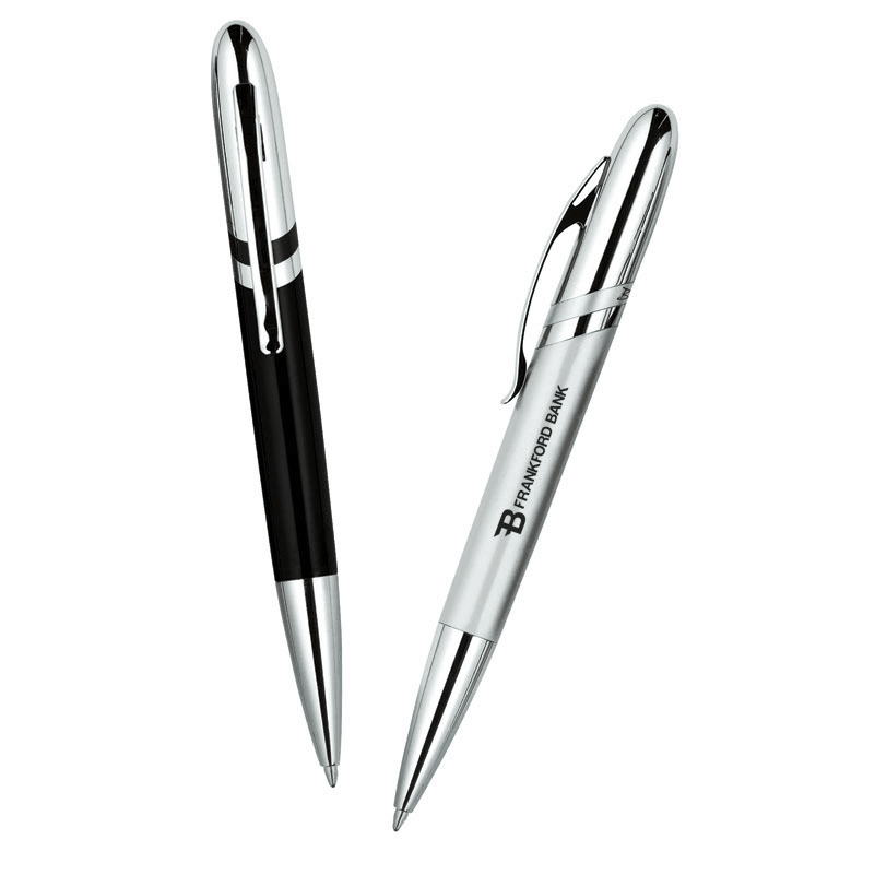 Bettoni Collection Ballpoint Pen w/ Diagonal Stripe Design