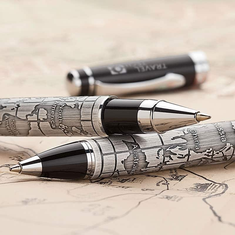 Bettoni collection etched world map roller ball pen bettoni pens bettoni collection etched world map roller ball pen example gumiabroncs Images
