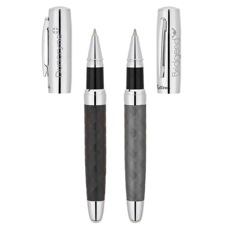 Bettoni Collection Roller Ball Pen w/Woven Barrel Design